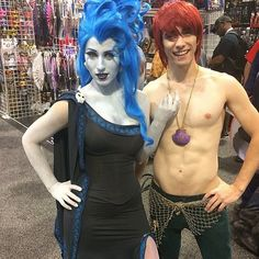 Pin for Later: 43 Insanely Creative Cosplays to Inspire You . now we want a movie about gender-bent Hades and Ariel, please. Disney Cosplay, Disney Costumes, Cool Costumes, Costume Ideas, Ariel Cosplay, Creative Costumes, Hades Disney, Amazing Cosplay, Best Cosplay