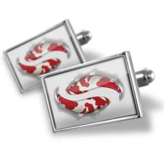 """Neonblond Cufflinks """"Koi Fish"""" - cuff links for man NEONBLOND Cufflinks. $29.90. Products are Assembled in America. We have more then 4000 different Cufflinks. Standard Size is approximately 19mm x 12mm. Unique Gift for the Modern Classic Man. Comes with our Free Velvet / Satin Bag. Save 50% Off!"""
