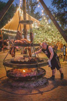 Huge tripod  grill