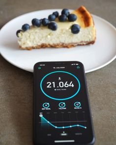 What does the cheese cake have to do with StepsApp? Very easily. The more steps you take, the more calories you can eat ;) #fitnessmotivation #foodlove #mondaymotivation Cooking Timer, Counter, Cheesecake, Walking, Healthy Recipes, Eat, Breakfast, Food, Morning Coffee
