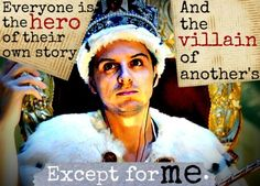 Sherlock BBC, Moriarty. yep he's just loves being the villain.