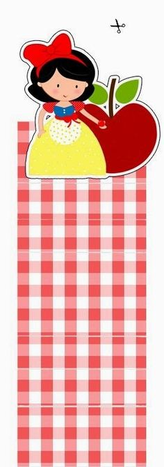Snow White Free Printable Gum or Nuggets Wrappers.