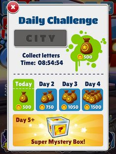 Subway Surfers Daily Reward: screenshots, UI