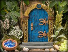 Blue+Fairy+Door+by+HiddenWorlds+on+Etsy,+$25.00