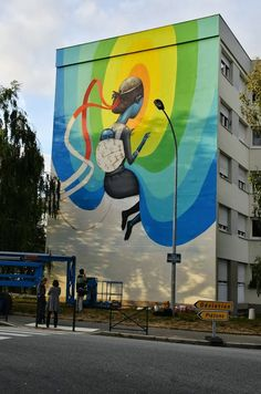 Best Graffiti 2013 - Street art in Rennes, France, by Seth. Photo by Teenage Kicks Urban Street Art, Best Street Art, 3d Street Art, Amazing Street Art, Street Artists, Murals Street Art, Graffiti Murals, Street Art Graffiti, Mural Art