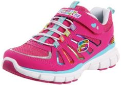 Skechers Kids Lite Spirit-Helios Sneaker (Little Kid/Big Kid),Neon Pink,5 M US Big Kid Skechers. $51.30. Rubber sole. Leather and synthetic. Bungee laces. Padded collar and tongue. Upgrade her energy with this bright sneaker. Shock-absorbing midsole. Synthetic upper with foil detailing