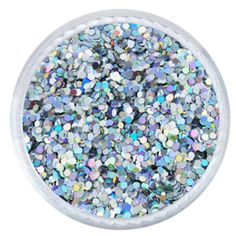 Silver Holographic Jewel Hexagon Glitter – Solvent Resistant Glitter from Glitties Nail Art Online Store Holographic Glitter, Art Online, Silver Glitter, Pretty Nails, Nail Art, Store, Metal, Polish, Diy
