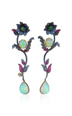 Flower Drop Earrings by Lydia Courteille