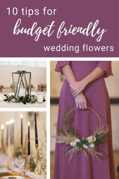 10 Tips for Budget Friendly Wedding Flowers Budget Wedding Flowers, Diy Your Wedding, Beautiful Flowers, Budgeting, Wedding Planning, Floral Designs, Table Decorations, Tips, Business