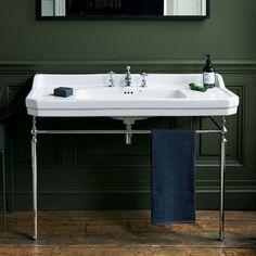 Burlington Edwardian Basin & Chrome Wash Stand - Ikea DIY - The best IKEA hacks all in one place Ikea Bathroom, Upstairs Bathrooms, Bathroom Basin, Modern Bathroom, Bathroom Ideas, Retro Bathrooms, Tiny Bathrooms, Minimalist Bathroom, Bathroom Vanities