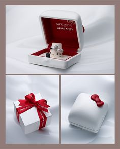 If my boyfriend purposes to me with that ring it would just be goalless Hello Kitty Jewelry, Hello Kitty Items, Hello Kitty Stuff, Cute Packaging, Jewelry Packaging, Sanrio Hello Kitty, Hello Kitty Wedding, Just In Case, Just For You