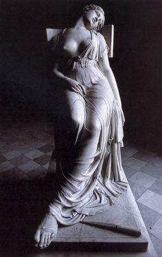 Damià Campeny. Lucrecia Moribunda (The Dying Lucretia). 1834. Marble.  Palau de la Llotja. Barcelona, España.