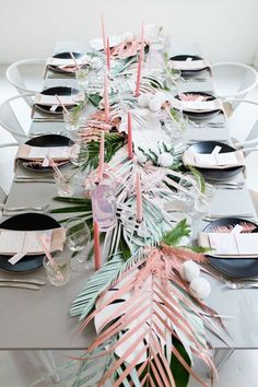 Tropical wedding theme.