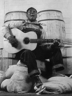 Leadbelly. Another classic blues player, love the country folk look.