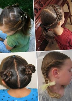 Детские прически для девочек на каждый день - http://popricheskam.ru/79-detskie-pricheski-dlja-devochek-na-kazhdyj-den.html. #прически #стрижки #тренды2017 #мода #волосы
