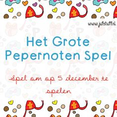 Juf-Stuff: Het Grote Pepernoten Spel Activities For Kids, Crafts For Kids, Saint Nicolas, Holiday Games, Kids Class, Winter Holidays, Classroom, Teacher, Education