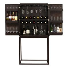 Like the wine glass storage. there isn't really a place to mix or enough booze/wine storage on the inside.