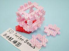 3D pereler beads アイロンビーズ 試作 星のカービィ: 3DPerlerBeadsお手軽頑固な立体アイロンビーズ