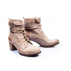 Dámské kožené boty v odstínu cappuccino - manozo.cz 13df2d9ba02