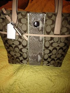 'Coach New Sig Stripe Python' is going up for auction at  3pm Wed, Oct 16 with a starting bid of $1.