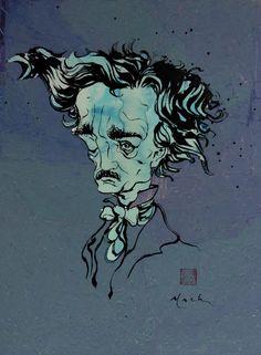 Illustration © David Mack http://enigmalife.com/stories/story/edgar-allan-poe