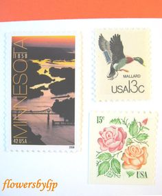 Postage Stamps Unused Minnesota Sunset River Red by flowersbyljp