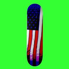 Old Glory Skateboard by Groovyal
