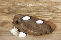 Bougeoir en bois flotté recyclé 100% fait main par HOME CREATION. Made in France ( Catalogne Nord 66) BOUTIQUE WEB : http://www.alittlemarket.com/boutique/home_creation-1828923.html