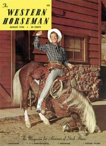 Rex Allen and Koko on the cover of Western Horseman. Love this!