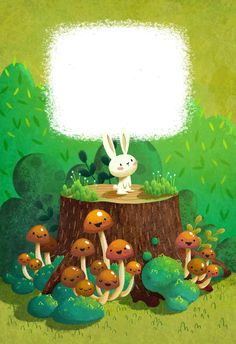 """Photo from album """"Алёна Ткач"""" on Yandex. Forest Illustration, Illustrations And Posters, Children's Book Illustration, Character Illustration, Rabbit Art, Painting For Kids, Art Plastique, Cute Drawings, Cute Art"""