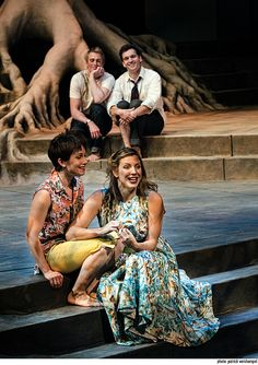 """Four lovers lost in the forest. Kayla Lian, Jenni Putney, Ty Boice and Joel Gelman in """"A Midsummer Night's Dream."""" Photo by Patrick Weishampel."""
