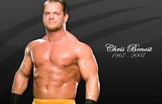- Chris Benoit The famous WWE wrestler Chris Benoit strangled his wife and suffocated his 7 year old son before hanging himself from a weight bench in his basement. Chris Benoit, Eddie Guerrero, Men's Wrestling, Celebrity Deaths, Thanks For The Memories, Die Young, Tough Guy, Before Us, Guys And Girls