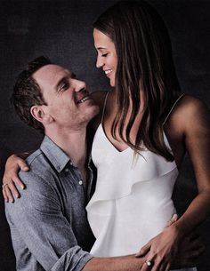 For Alicia Vikander and Michael Fassbender, their new film The Light Between…I ship it! Michael Fassbender E Alicia Vikander, Alicia Vikander Style, Alicia Vikander Hair, The Light Between Oceans, Image Film, The Danish Girl, Ex Machina, Celebs, Celebrities