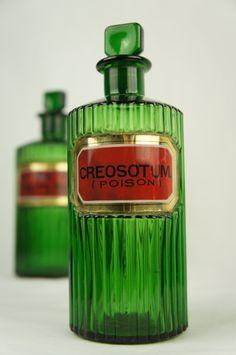 Vintage Antique Apothecary Pharmacy Bottle by TheLotAntiquesandArt