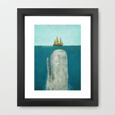 Poster Wall - The Whale  Framed Art Print