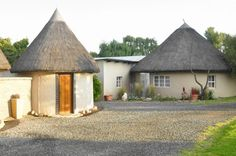 Stay in a traditional rondawel at Van Zylsvlei B&B, Colesberg, South Africa.