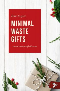 Minimal Waste Gifts for the Holidays Christmas On A Budget, Modern Christmas, Christmas Tree, Christmas Ideas, Creative Homemade Gifts, Use Of Plastic, Lets Celebrate, Saving Ideas, Book Gifts
