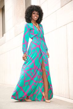 Flowy Wrap Maxi Dress