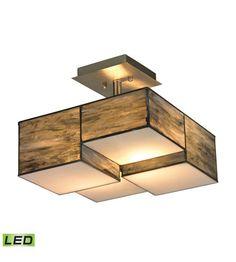 ELK Lighting Cubist LED Semi-Flush Mount in Brushed Nickel 72071-2-LED #elk #elklighting #lightingnewyork #lighting