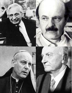 Licio Gelli, Roberto Calvi, monsignor Paul Marcinkus e Michele Sindona