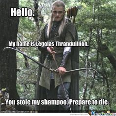 """NO you don't Legolas LotR WIN over um just about everything"" < lol true. ^ you tell em Legolas! Legolas Funny, Legolas And Thranduil, Hobbit Funny, Aragon, Epic Film, Z Cam, Orlando Bloom, Marvel, Lord Of The Rings"