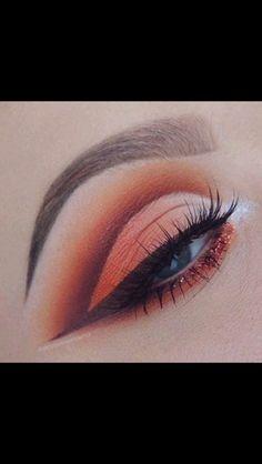Orange eyeshadow                                                                                                                                                     More