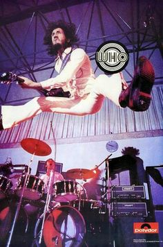 The Who - Pete Townshend and Keith Moon on stage
