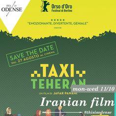 Taxi Teheran. Prisbelønnet taxikomedie . Læs anbefalingen på: http://www.thisisodense.dk/da/21511/taxi-teheran Film | Mandag d. 12. okt. - Onsdag d. 21. okt.