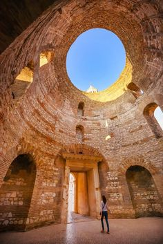 Split, Croatia: The Diocletian& Palace An ancient fortress by the Mediterranean Sea once home to a Roman Emperor, Split's Diocletian Palace is a mighty sight. As my suitcase wheels struggled [&