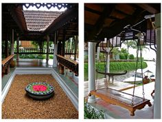 Perfect! Kerala courtyard - traditional homes always kept the courtyard in the centre of the house - empty space - since that is the brahmasthan according to vastu- loved & pinned by www.omved.com