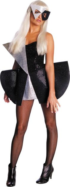 Adult Black Sequin Dress Lady Gaga Costume - Party City