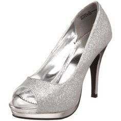 Silver open toe heels!! Worn once for a wedding! Very comfortable and super cute on! No scuffs or anything! Rampage Shoes Heels
