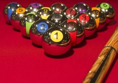 Chrome pool balls