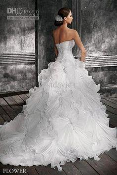 ruffle wedding dress ball gown - Google Search